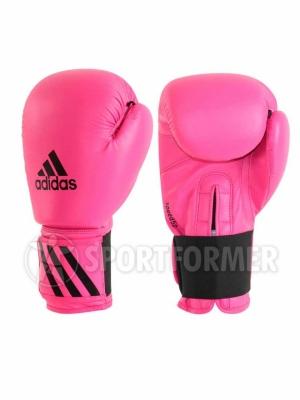 розовые боксерские перчатки Adidas