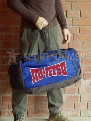сумка джиу-джитсу бжж bjj jiu-jitsu синяя оранжевая