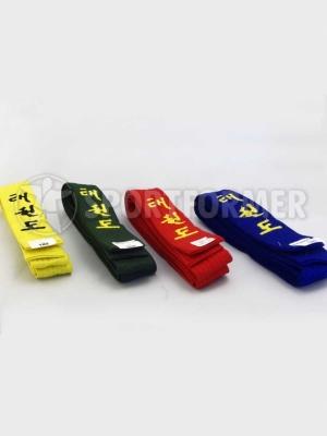 пояс тхэквондо желтый зеленый синий красный ИТФ ГТФ