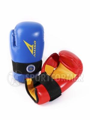 Перчатки тхэквондо ITF Amigo кожаные