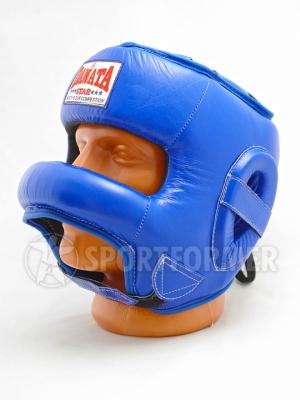 шлем с защитой носа кожаный
