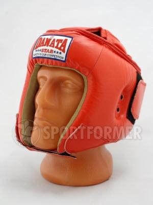 шлем боевой с защитой темени верх для каратэ тхэквондо
