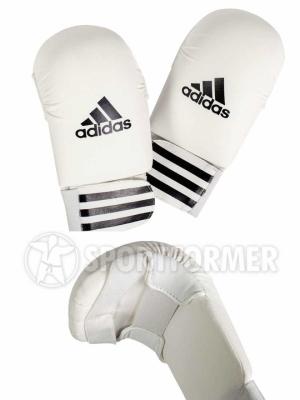 перчатки каратэ adidas smaller белые
