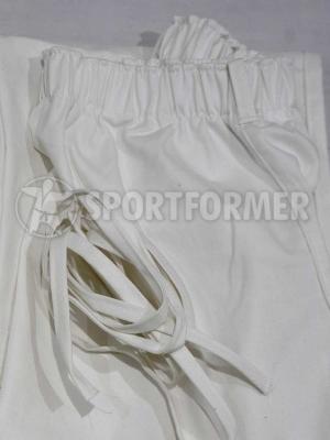 штаны айкидо на резинке с усиленными коленями