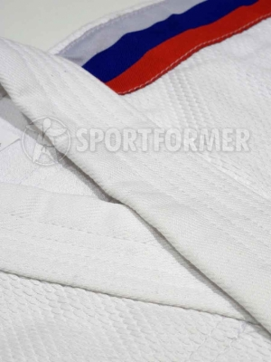 кимоно дзюдо с российским флагом