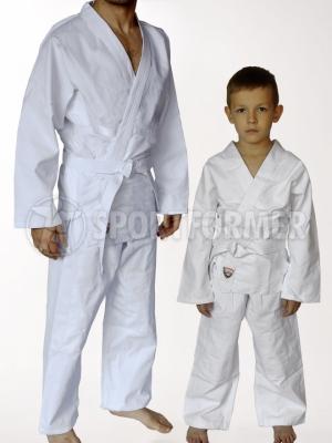 кимоно для рукопашного боя с прорезями под пояс