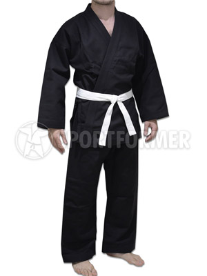 Кимоно для джиу-джитсу и рукопашного боя Россия черное