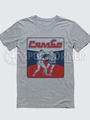 футболка самбо серая