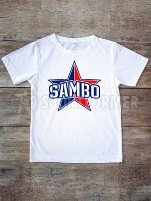 футболка самбо белая