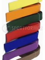 пояс желтый, оранжевый, зеленый, красный, синий, фиолетовый, коричневый