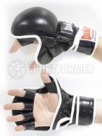 перчатки для мма тренировочные кожаные