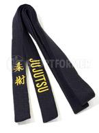 Пояс черный для Джиу-Джитсу с вышивкой