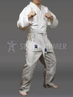 Кимоно для джиу-джитсу и рукопашного боя Россия белое