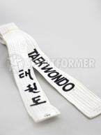 Пояс белый Тхэквондо ITF/GTF с вышивкой